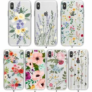 Soft Phone Case For iPhone 11 Pro Max XS MAX XR X 6 7 8 Plus Leaf Flower Cover