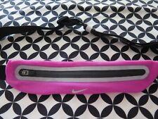 NIKE Lean Reflective Silver Pink Slim Waist Pack Fitness Belt Expandable Unisex