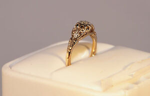RRP £750 Sale £250 Solitaire Diamond Illusion Disc 18ct Gold Ring Appraisal .C.