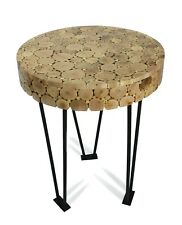 Thai Side Table / Coffee Table, 58cm high: Driftwood, branch cross section