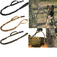 Dog Leash Police Tactical Training Heavy Duty Nylon Bungee Military K9 Canine