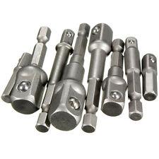 "8pcs Socket Adapter Set Hex Shank to 1/4"",3/8"",1/2"" Impact Driver Drill Bits Bar"