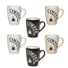 6x Set Tasse Tassen 180 ml Kaffeetasse Espresso Becher Keramik Kaffee Mug Coffee