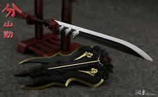 """1:6 Scale Cold Weapon Mode European Metal Shield + Sword  For 12"""" Body"""