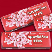 ION Greek Milk Chocolate with Almonds 2x70gr