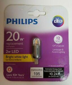New Philips LED 2W LED (20W Replacement) 12V Bright White Light 195 Brightness