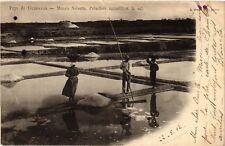 CPA  Pays de Guérande - Marais Salants, Paludiers recueillant le sel    (587865)