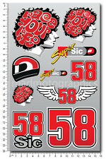 Marco Simoncelli 58 Super Sic motorcycle car decals stickers MotoGP Laminated