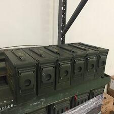 6x Vintage Military Army NATO 7.62 MM M13 M62 M80 200 Cartridge Ammo Metal Box