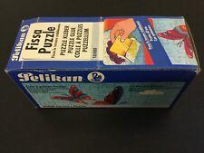 VINTAGE# 70s PELIKAN PUZZLE GLUE  2 FLACONS BOTTLE + BOX  RARE  # [A]