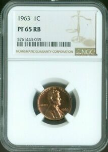 1963 LINCOLN MEMORIAL CENT PENNY 1C NGC PROOF PF65 RB RED BROWN QUALITY✔️