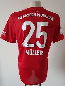 Bayern Munich 2019 - 2020 Home football Adidas Climacool shirt #25 Müller