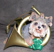 """Merriest Musician"" Yuletide Yorkies Christmas Ornament The Danbury Mint"