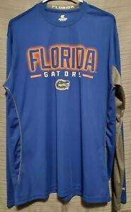 Colosseum Florida Gators Blue & Gray Long Sleeve Polyester T-shirt Men's Size XL