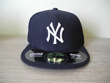 ae3cd51a127 New Authentic New York Yankees New Era 59FIFTY Fitted Flat Brim Baseball Cap  Hat