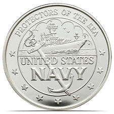 U.S Navy Protectors Of The Sea - Desert Storm 1 Troy oz .999 Silver Coin (0160)