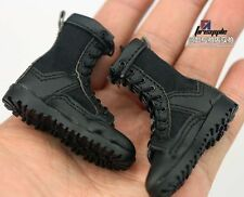 "1/6 Scale Black US Army Combat Boots Lacing Shoes For 12"" Action Figure Soldier"