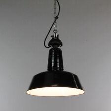 Industrie Leuchte Emailliert Bauhaus Decken Lampe vintage Industrial Design 30er