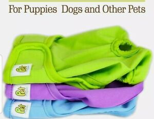 Dog Diapers Reusable Washable Waterproof For  Dogs Extra Small,Pack of 3