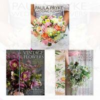 Flowers Collection 3 Books Set Vintage Flowers,Paula Pryke Wedding Flowers,New