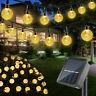 20ft 30 LED Solar String Ball Lights Outdoor Garden Yard Decor Lamp Waterproof #