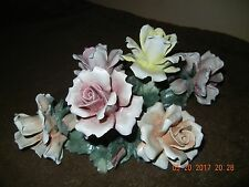CAPODIMONTE PORCELAIN FLOWER BASKET TABLETOP BOUQUET CENTERPIECE MADE IN ITALY