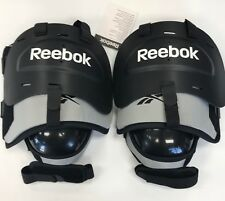 New Reebok NHL Pro Stock KPNHL ice hockey goalie knee pad Senior black/gray