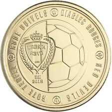 Belgien 2,50 EURO 2018 Rote Teufel Gedenkmünze in Münzkapsel