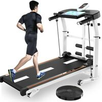 Folding Manual Treadmill Working Machine Cardio Fitness Exercise Incline US