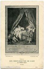 LES CHEFS-D'OEUVRE DE L'ART AU XVIII ème SIèCLE. LE LEVER. FREUDEBERG. A.ROMANET