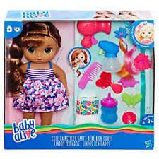 Baby Alive Cute Hairstyles Baby, Long,Beautiful Hair w/ Hair Styling Accessories