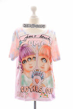 T-16 Zwilling Twins Monster Girl Funky T-Shirt Lolita Harajuku Japan Pastel Goth