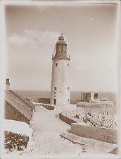 Espagne, Gibraltar, le Phare  Vintage silver print, Provenant d'un Album de