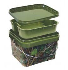 10 Litres Camouflage Carpe Appât Seau + insert, pêche à la Carpe/particules/Pellet/PVA