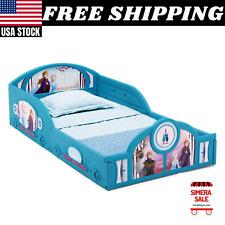 Disney Frozen Ii Plastic Sleep & Play Toddler Bed by Delta Children Safe Design