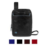 Piquadro Blue Square Borsello uomo porta iPad con tracolla, pelle CA3084B2