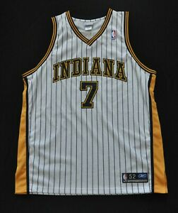JERMAINE O'NEAL REEBOK Authentic JERSEY INDIANA PACERS White Pinstripe 52 2XL