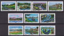 France 2013 : les 10 timbres du Carnet Croix Rouge - La Loire - oblitérés