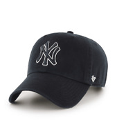 New York Yankees 47 Brand Black White Clean Up Adjustable Field Cotton Hat Cap