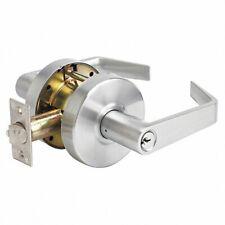Master Lock lever lockset Slchke26D Keyed, Brushed Chrome, 2 3/4 in Backset New