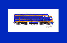 """Chicago & Eastern Illinois F3 11""""x17"""" Matted Print Andy Fletcher signed"""