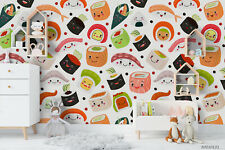 3D Japanese Sushi Wallpaper Wall Murals Removable Wallpaper 49