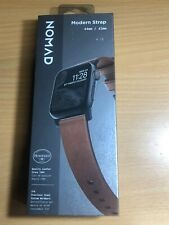 NOMAD Leather Watch Strap for Apple Watch 42/44 mm Brn/Blk Lugs-LIGHTLY USED