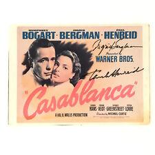 "Vintage Ingrid Bergman & Paul Henried DOUBLE SIGNED 7""x5"" Casablanca Promo"