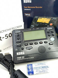 Korg TMR-50 Combined Chromatic Tuner Metronome PCM Recorder USB TMR-50BK Black
