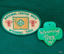 GIRL SCOUTS NATIONAL CENTER WEST WYOMING TREK PATCH AND PARTICIPANT MADE PENDANT