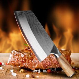 Kochmesser Küchenmesser Edelstahl Damaskus Metzgermesser Hackfleisch Fleischbeil