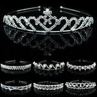 Women Wedding Bridal Crystal Pearl Headband Hair Band Headdress Princess Crown