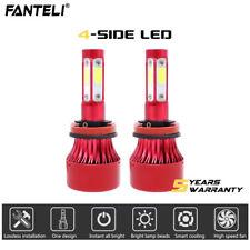 2x H11 LED Headlight 6000K 2018 2215W 332250LM 4-Side Low Beam Bulbs High Power