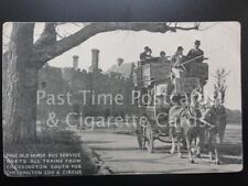 c1902 (UB) Old Horse Bus Service Meets Trains Chessington South for ZOO & CIRCUS